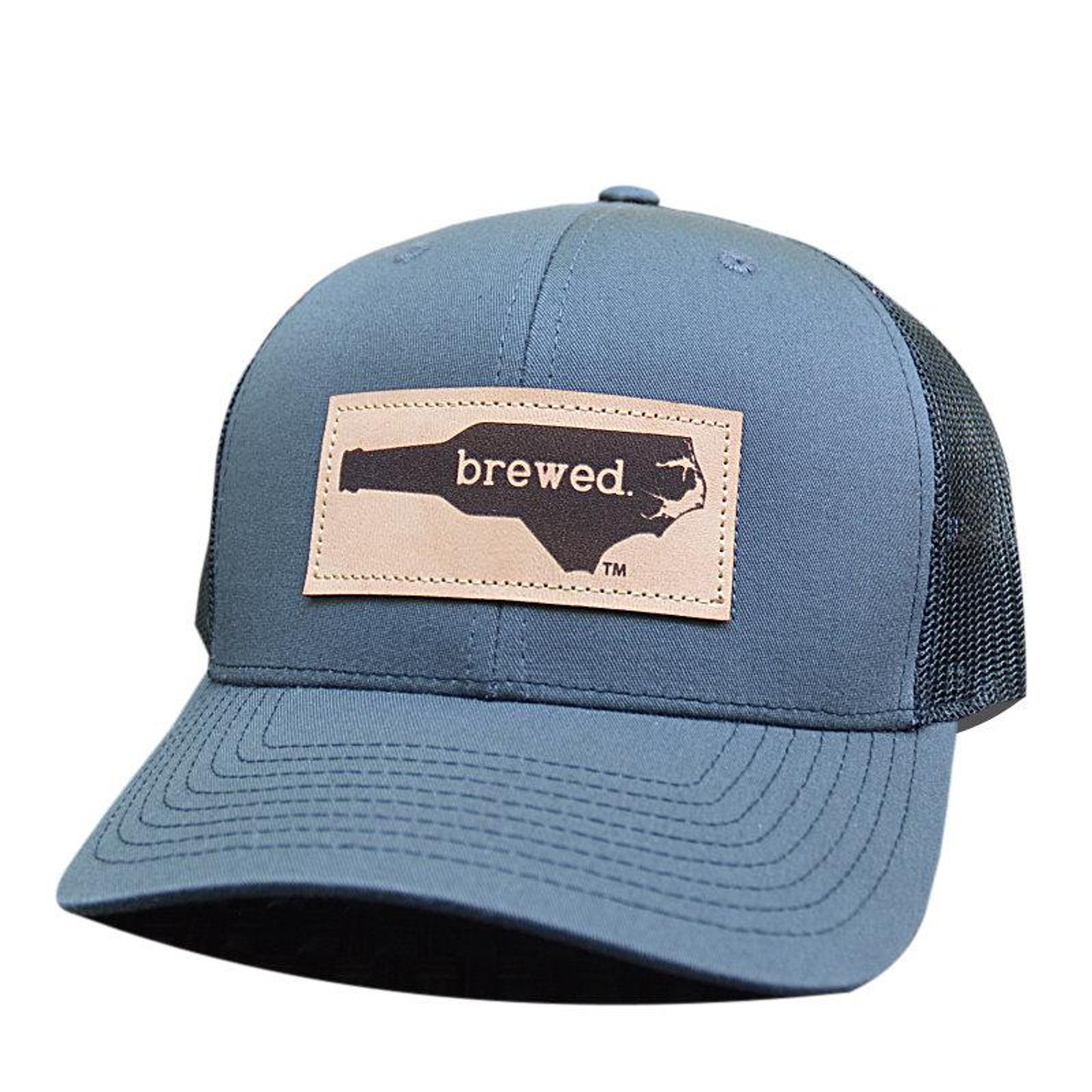 884fc485c Lost Wando NC Brewed Leather Patch Charcoal/Black Hat