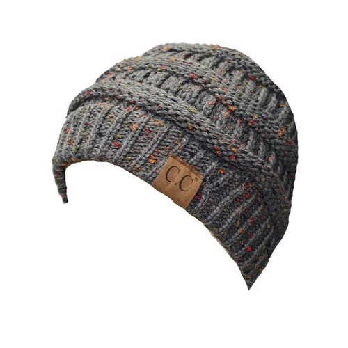C.C Dark Melange Grey Speckled Beanie