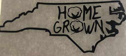 North Carolina Cotton Home Grown Decal