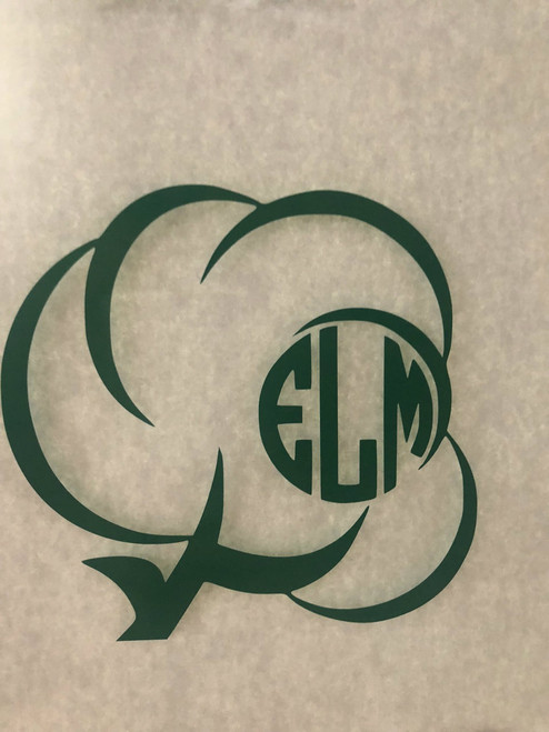 Monogrammed Cotton Decal