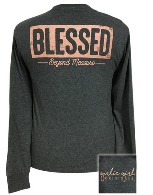 Girlie Girl Originals Blessed Black Heather LS