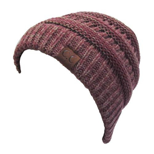 C.C. Beanie Two Toned Raspberry