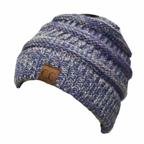 C.C. Beanie Two Toned Blue and Purple