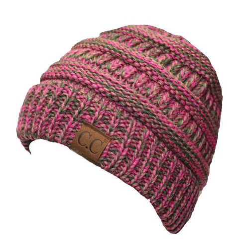 C.C. Beanie Two Toned Pink and Olive