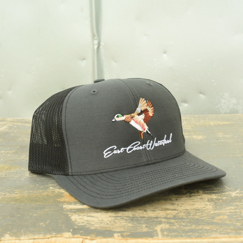 East Coast Waterfowl Charcoal/Black Mesh Wigeon Snap Back Hat