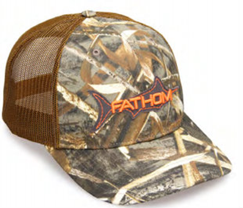 8facb5bdf8ada Fathom Offshore Trawler Marlin Applique Wetland Camo Hat - Girls ...