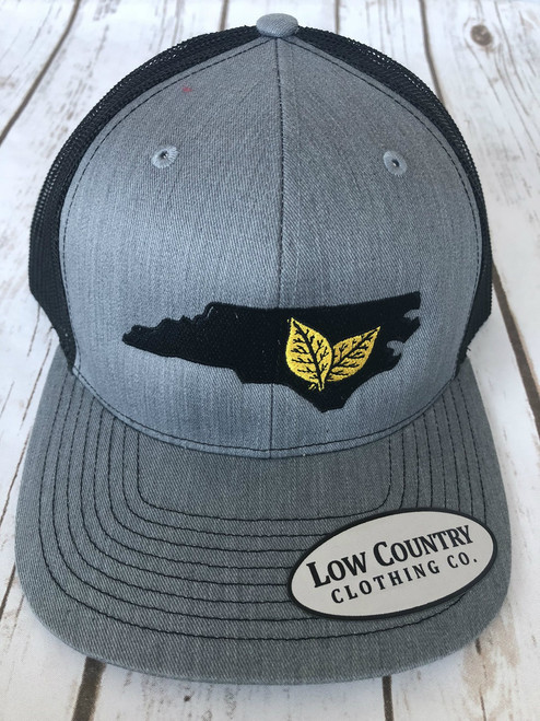 Low Country Clothing NC Tobacco Heather Grey/Black Hat