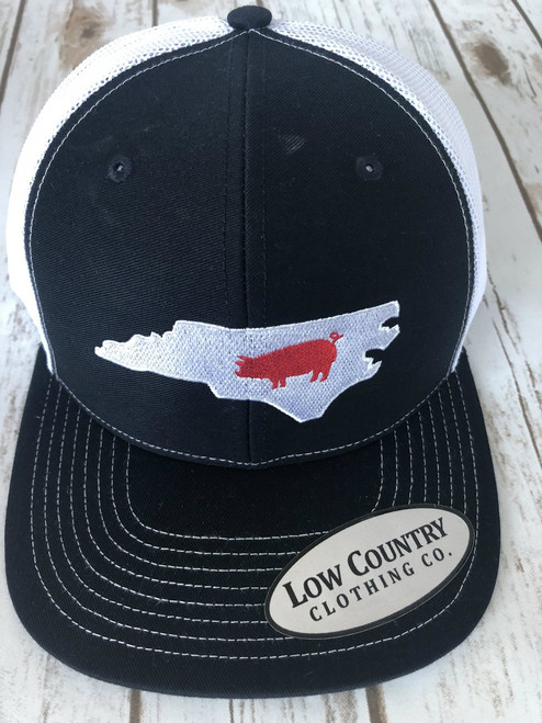 Low Country Clothing NC Pig Navy/White Hat