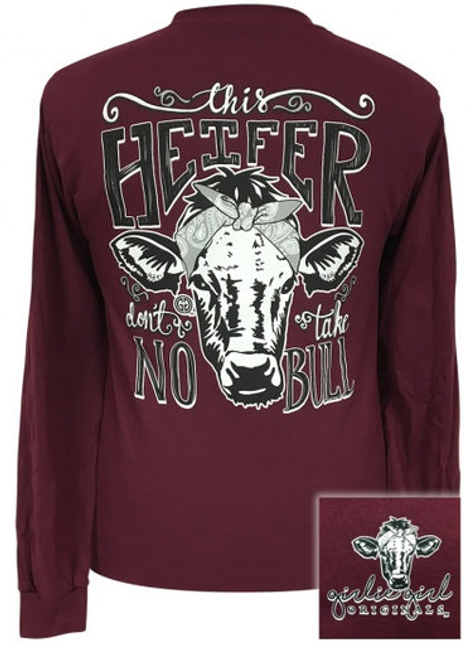 Girlie Girl Originals No Bull Maroon LS
