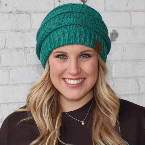 C.C. Speckled Beanie Seagreen