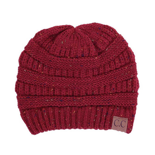 C.C. Speckled Beanie Burgundy