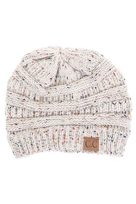 C.C. Speckled Beanie Ivory