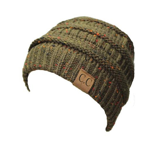 C.C. Speckled Beanie New Olive