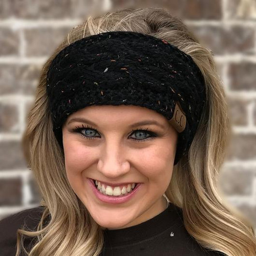 C.C. Speckled Headwrap Black