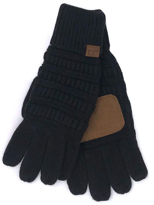 C.C. Brand Black Gloves