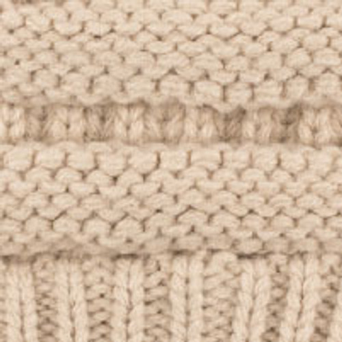 C.C. Youth Messy Bun Beige Beanie