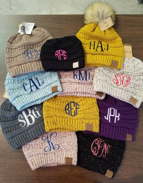 C.C. Monogram Only for Headwrap or Beanie