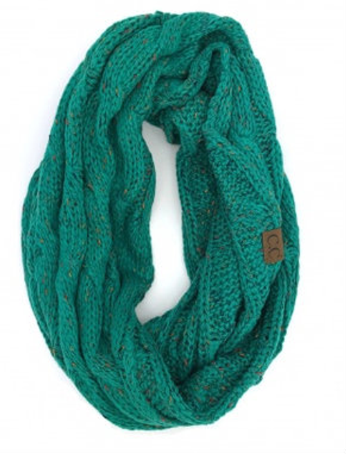 C.C Seagreen Speckled Infinity Scarf