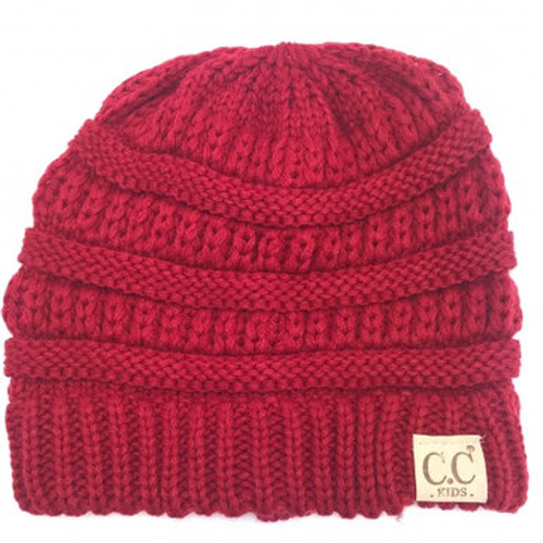 C.C Red Youth Beanie
