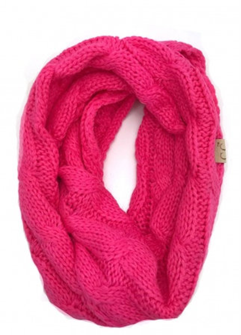 C.C Candy Pink Infinity Scarf YOUTH