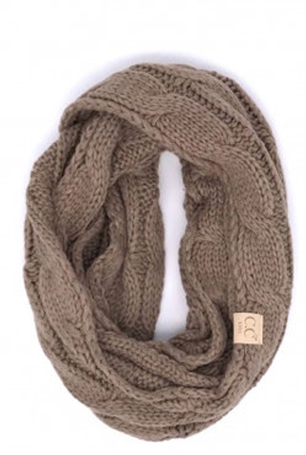 C.C Taupe Infinity Scarf YOUTH