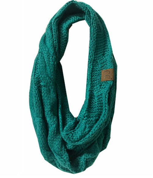 C.C Seagreen Infinity Scarf