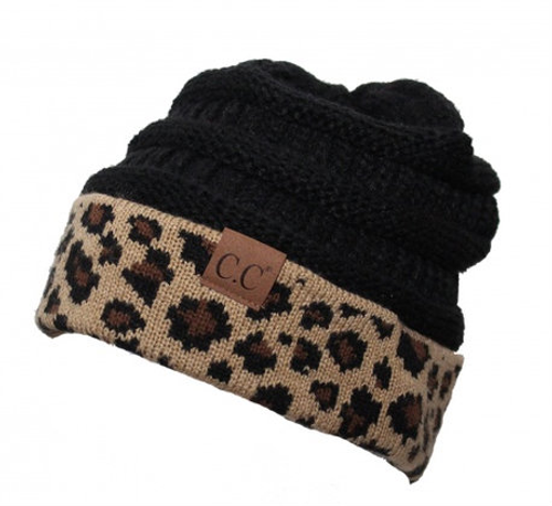 0aba4be281a C.C Black Leopard Beanie - Girls Round Here