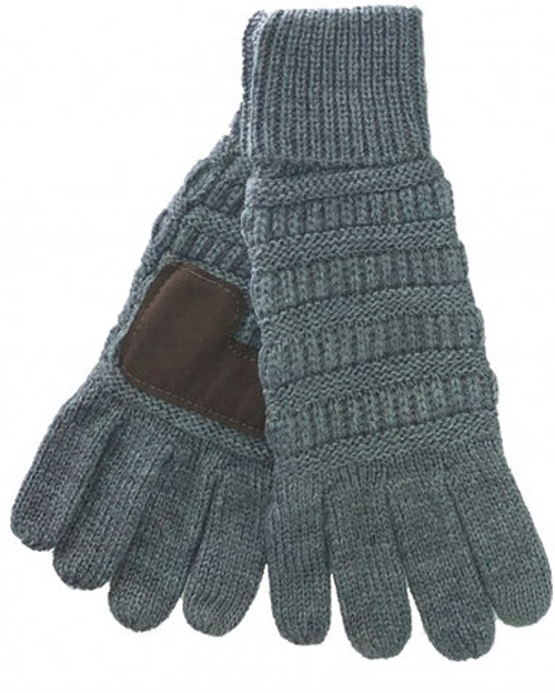 C.C Light Melange Grey Gloves