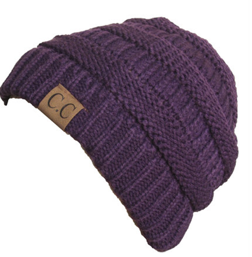 C.C Dark Purple Beanie