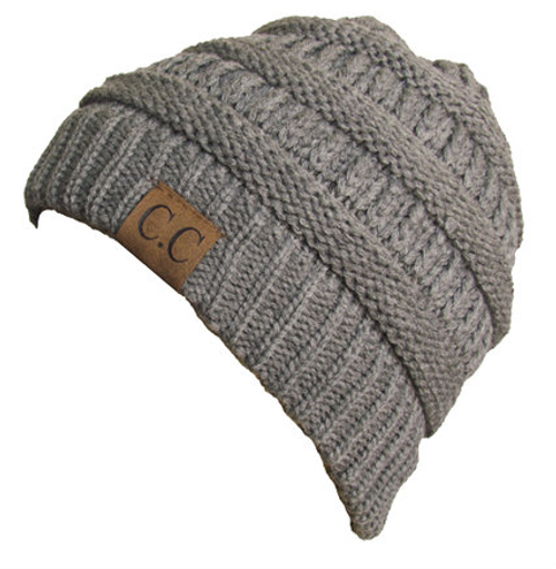 C.C Light Melange Grey Beanie