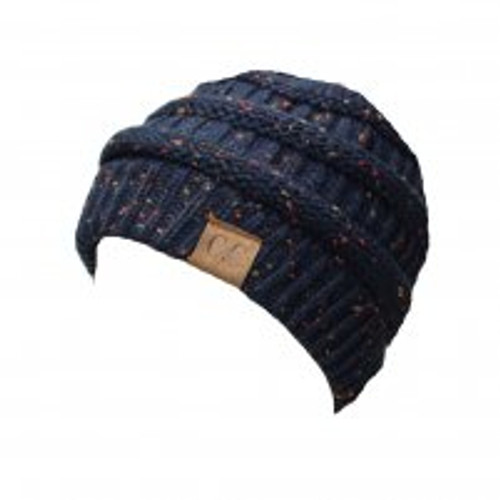 C.C. Navy Speckled Beanie