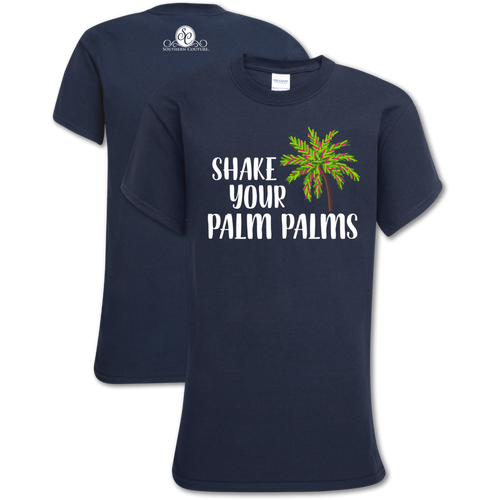 Southern Couture Shake Your Palm Palms Navy