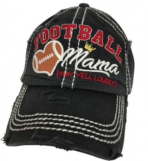 Girlie Girl Originals Football Mom Black Hat