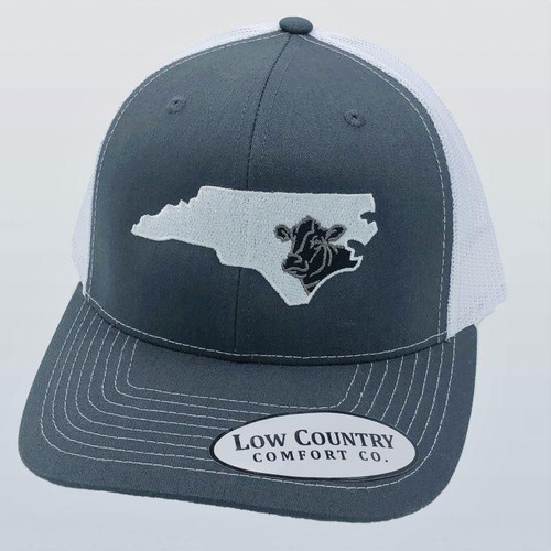 Low Country NC Cow Charcoal/White Hat