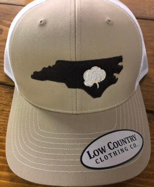 Low Country NC Cotton State Khaki/White Hat