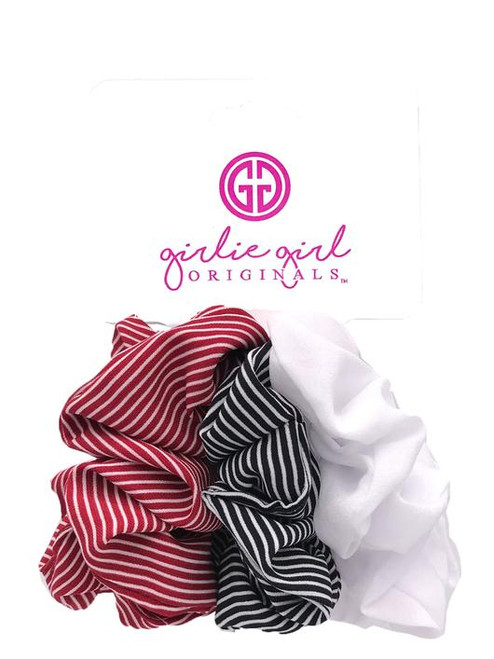 Girlie Girl Originals Assorted Scrunchies Navy/Red Striped
