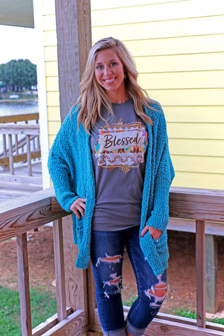 Southern Couture Pattern Blessed Charcoal