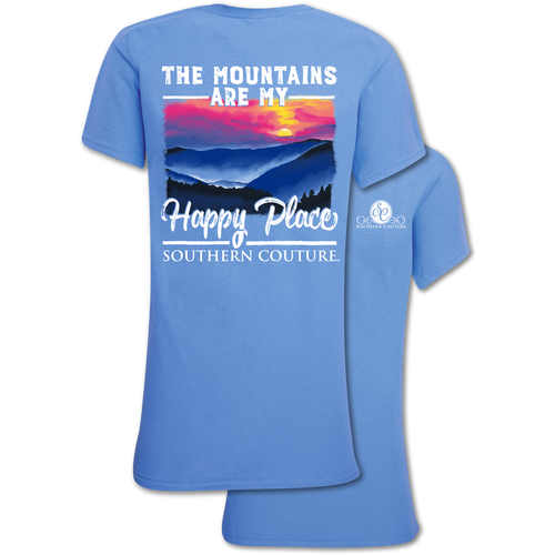 Southern Couture Mountains Happy Place Carolina Blue
