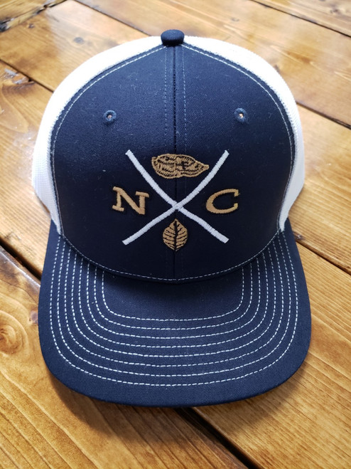 Crossroads Clothing NC X-Mark Navy/White Hat