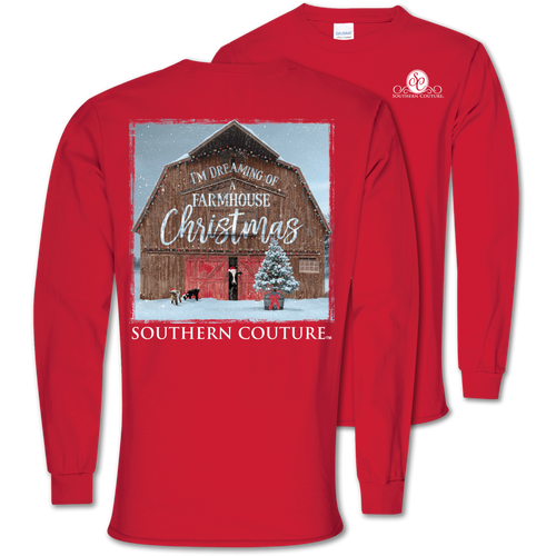 Southern Couture Farmhouse Christmas Red LS