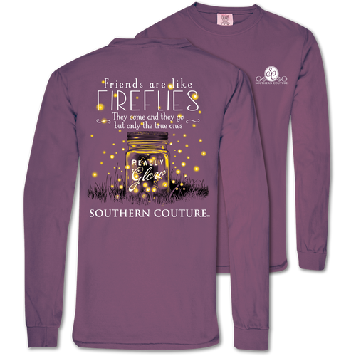 Southern Couture Friends Like Fireflies Berry LS