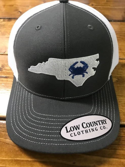 Low Country NC Crab Charcoal/White Hat
