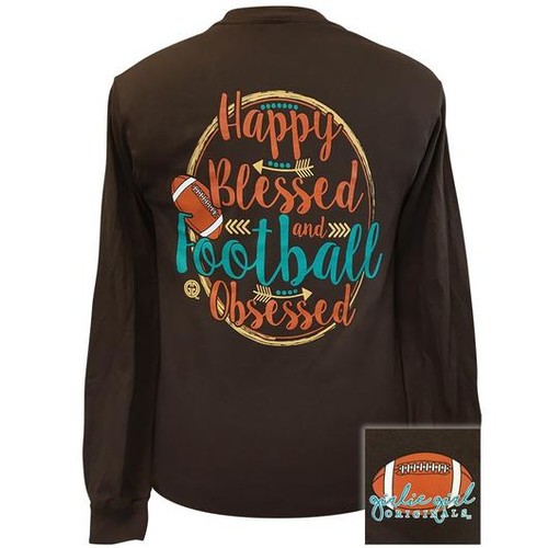 Girlie Girl Originals Happy Football Dark Chocolate LS