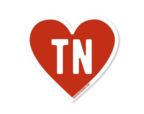 Good Southerner Love TN Sticker
