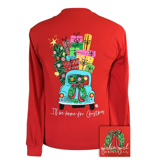 Girlie Girl Originals Christmas Car Red-LS