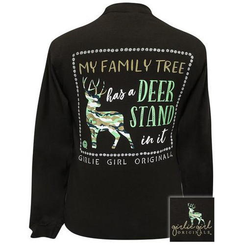 Girlie Girl Originals Family Tree Deer Stand Dark Chocolate LS