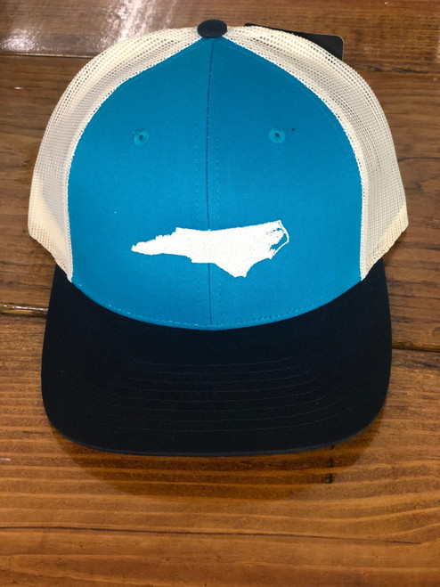 Round Here Clothing Teal/Birch/Navy embroidered Hat