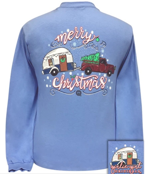 Girlie Girl Originals Christmas Trailer Blue LS