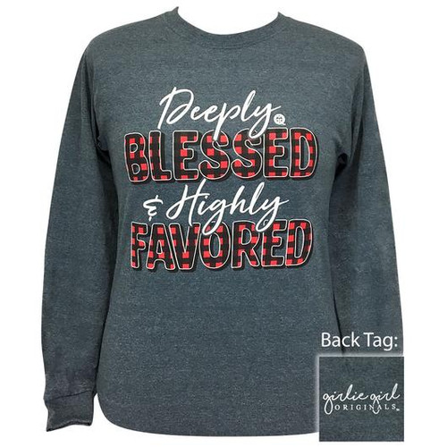 Girlie Girl Originals Deeply Blessed Dark Heather LS