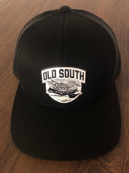 Old South Apparel Ducked Trucker Black/Black Hat